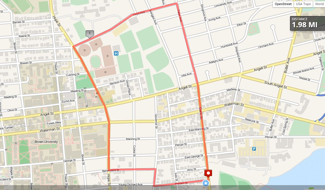 Route for October 5th, 2015